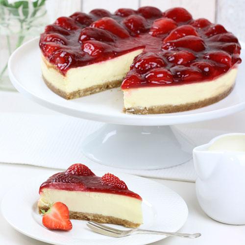 Luxury Strawberry Cheesecake – Gluten Free